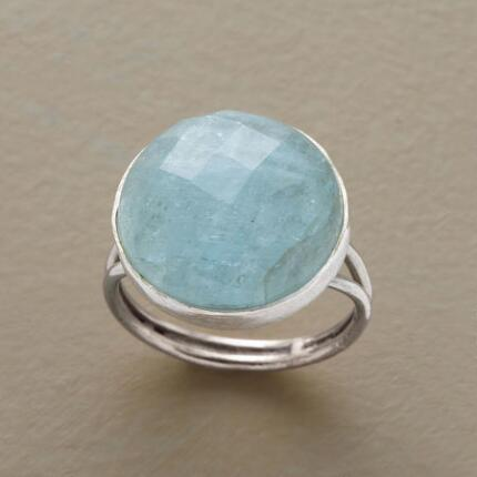The frosty glitter of this aquamarine dome ring has a cool allure all its own.