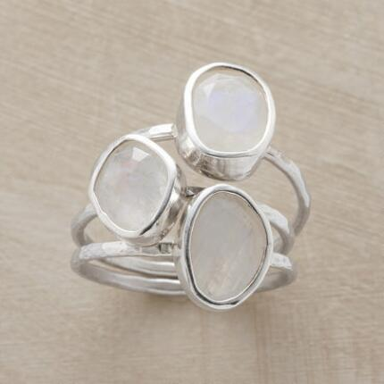 WHITE LIGHT RINGS S/3