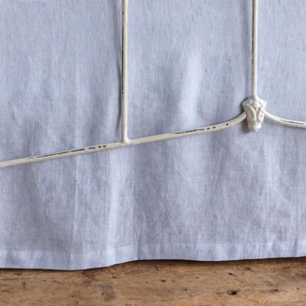 CHAMBRAY MICRO STRIPE LINEN BEDSKIRT