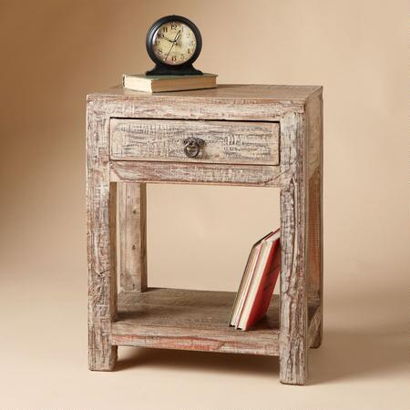WEATHERED TEAK NIGHTSTAND