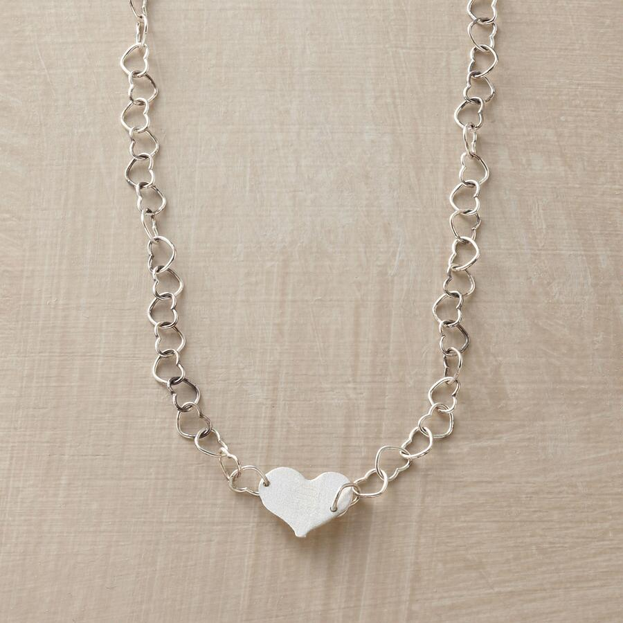 STERLING HEART-TO-HEART NECKLACE