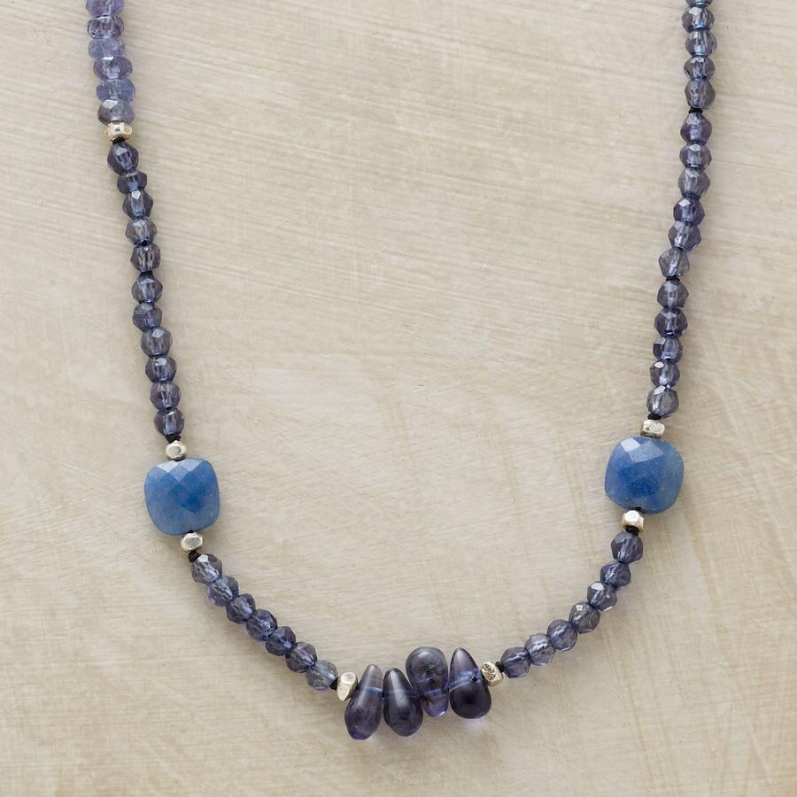 DOLLED UP DENIM NECKLACE