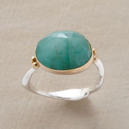 With a lush jewel prominently displayed, this rosecut emerald ring is a truly spectacular piece.