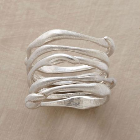 FIVE FREEFORM RINGS