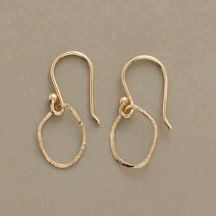 YELLOW GOLD COOPERATIVE HOOP EARRINGS