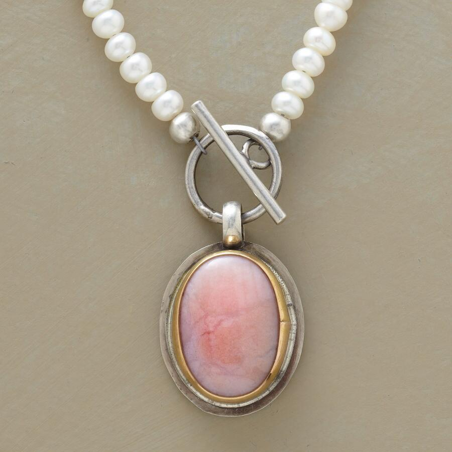 PEARL & PINK OPAL NECKLACE