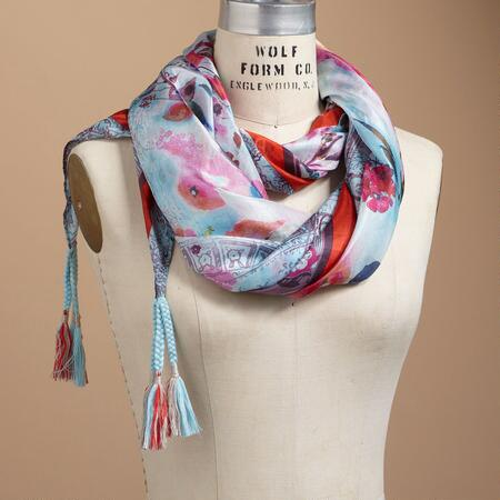 WATERCOLOR ROSE SCARF