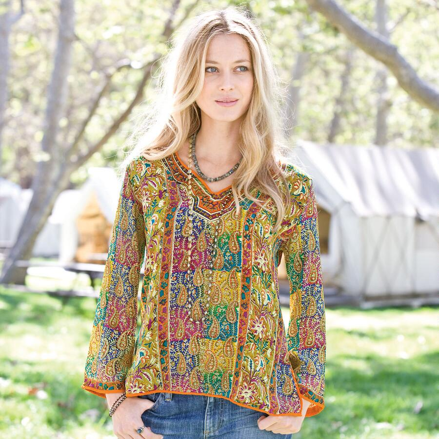 SHARIZ PAISLEY TUNIC