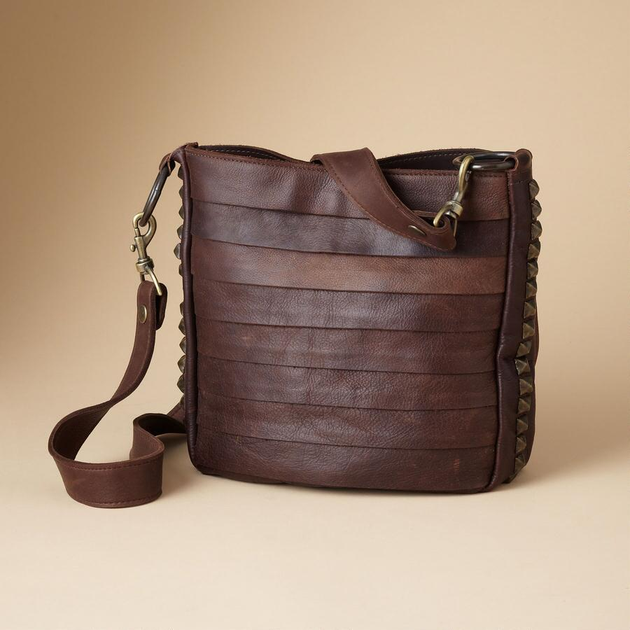 LINES & LEATHER BAG