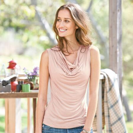 SOFTEST DRAPE COWL NECK SLEEVELESS