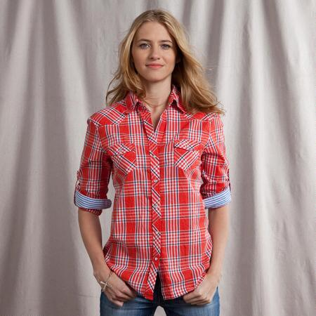 LINDY PLAID SHIRT IN RED