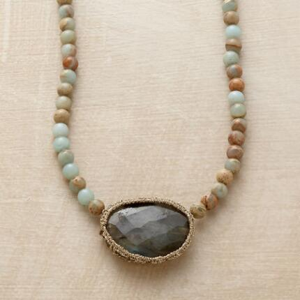 CAGED LABRADORITE NECKLACE