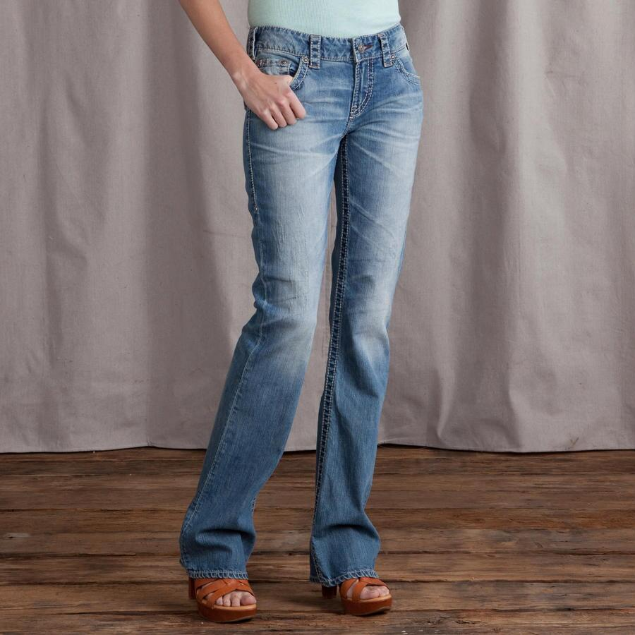 1921 ALANIS ROUGHED UP BOOTCUT JEANS