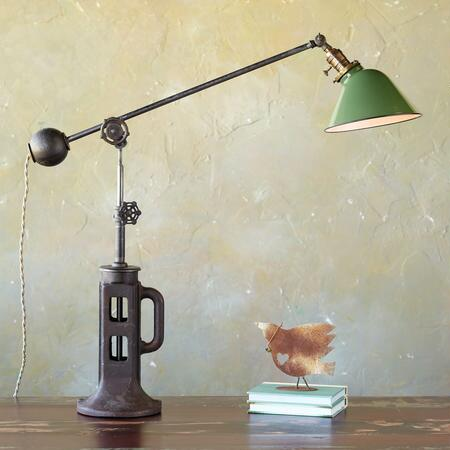 GREEN SHADE LAMP