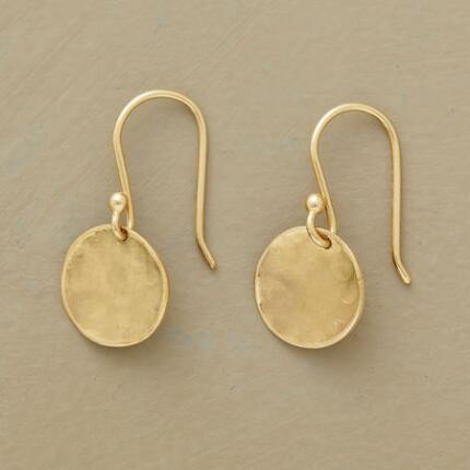 These Anne Sportun gold disk earrings shine with a heavenly light all their own.