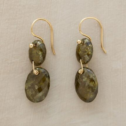 MOSS GARNET EARRINGS