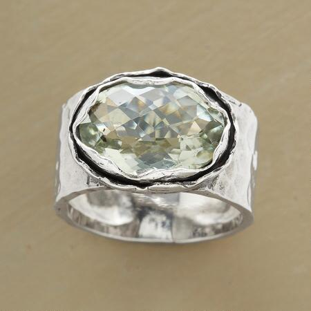 Bright and bold, this green amethyst oasis ring makes a luminous accent for any outfit.