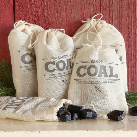 LUMPS OF COAL, SET OF 4