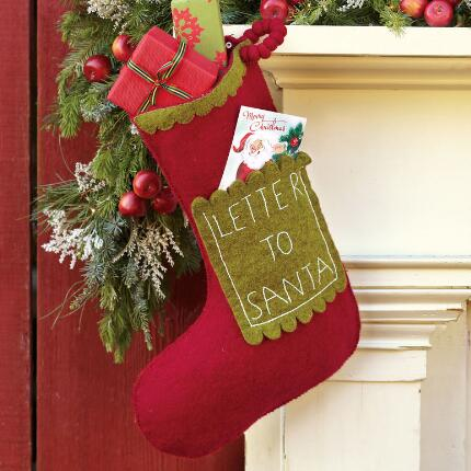 LETTER TO SANTA STOCKING