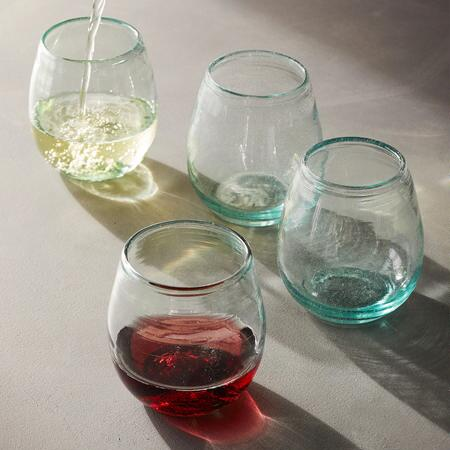 FIRESIDE WINE TUMBLERS, SET OF 4
