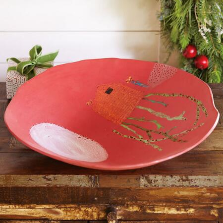 RED SPLENDOR CERAMIC BOWL