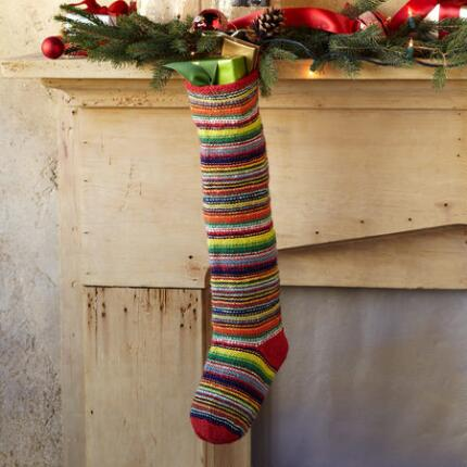 CHEERY MICRO-STRIPE STOCKING