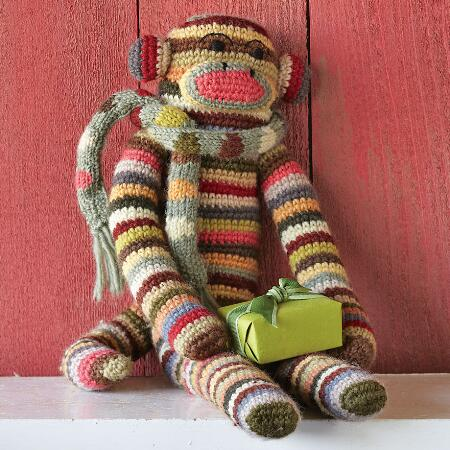 SOCK MONKEY OF MANY STRIPES