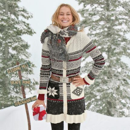 FAIRISLE SWEATER COAT