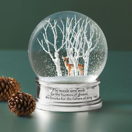 WOODS IN WINTER SNOW GLOBE