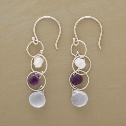 CIRCLE & STONES EARRINGS