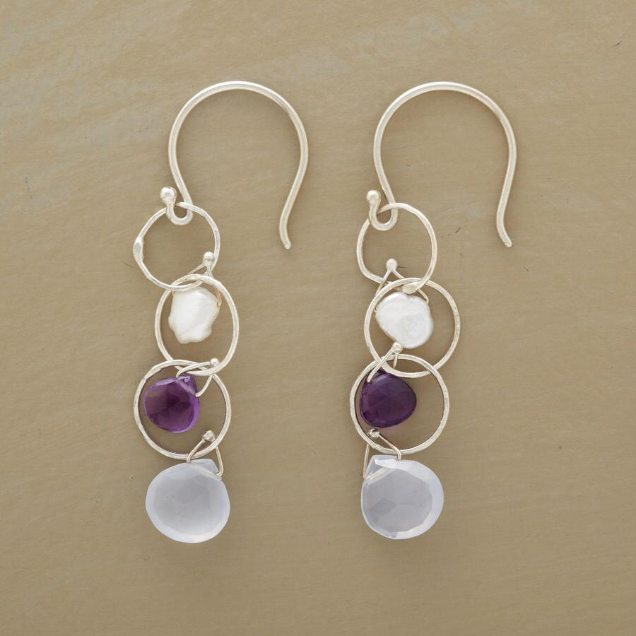 CIRCLES WITH STONES EARRINGS