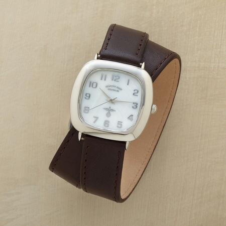 PEARL FACED WRAP WATCH