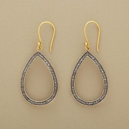 You'll cherish this utterly timeless pair of gold and diamond teardrop earrings.