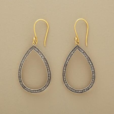 GOLD & DIAMOND TEARDROP EARRINGS