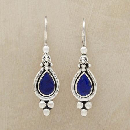 TRUTH & BEAUTY LAPIS EARRINGS