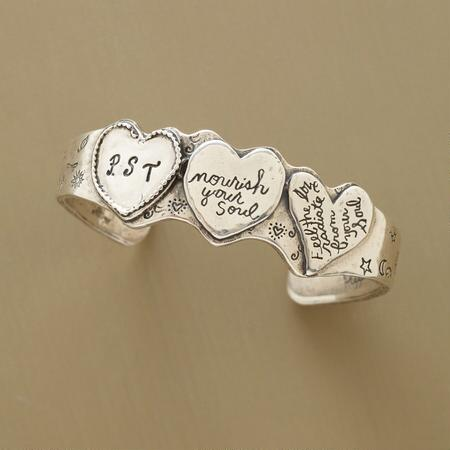 PERSONALIZED THREE-HEART CUFF