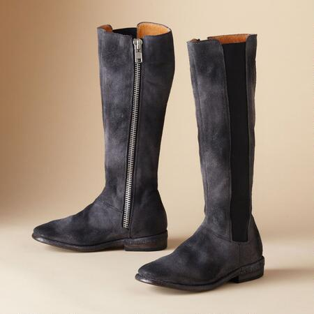 TALL SUEDE KITE ZIP BOOT