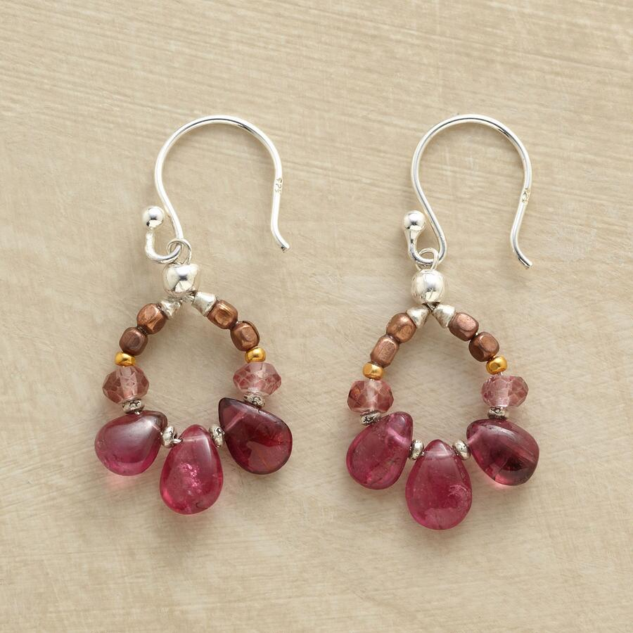 TOURMALINE LOOP EARRINGS