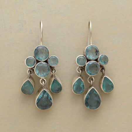 This pair of Jane Diaz blue green rain earrings will shower any ensemble with cool glamour.