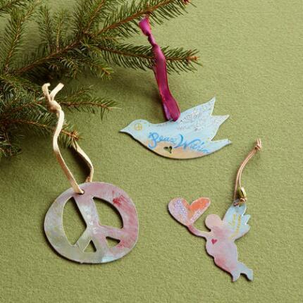 COMPASSION & PEACE ORNAMENTS S/3