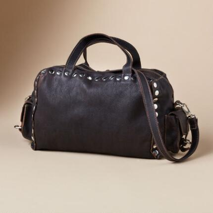 NITIN BROWN LEATHER BAG