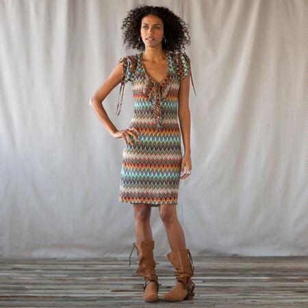 CARLEY FLAMESTITCH DRESS