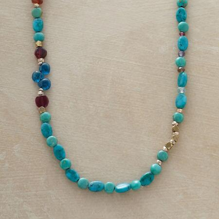 SWINGING THE BLUES NECKLACE