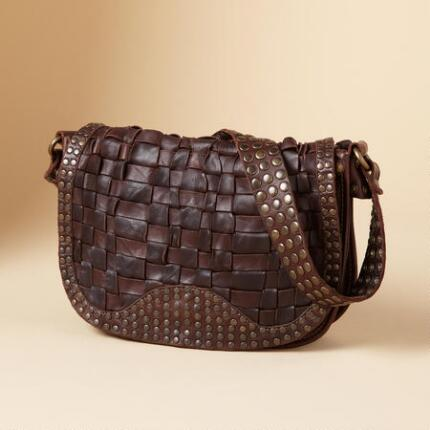STACY STUDDED SHOULDER BAG