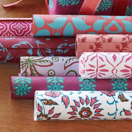 ECO LOVE WRAPPING PAPER, SET OF 8