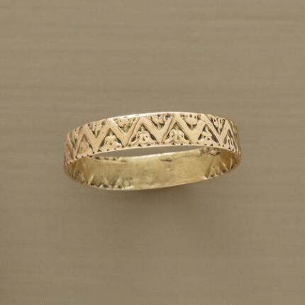 Delicate yet modern, you'll wear this mystic mountains handcrafted band ring with everything.