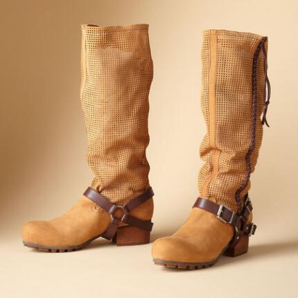 PERFORATED HARNESS BOOTS