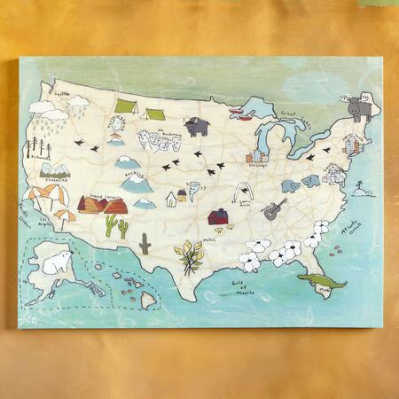 LITTLE EXPLORERS USA MAP