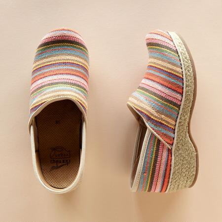 CABANA STRIPE CLOGS