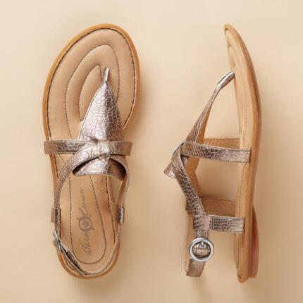 ABERLIN METALLIC SANDALS